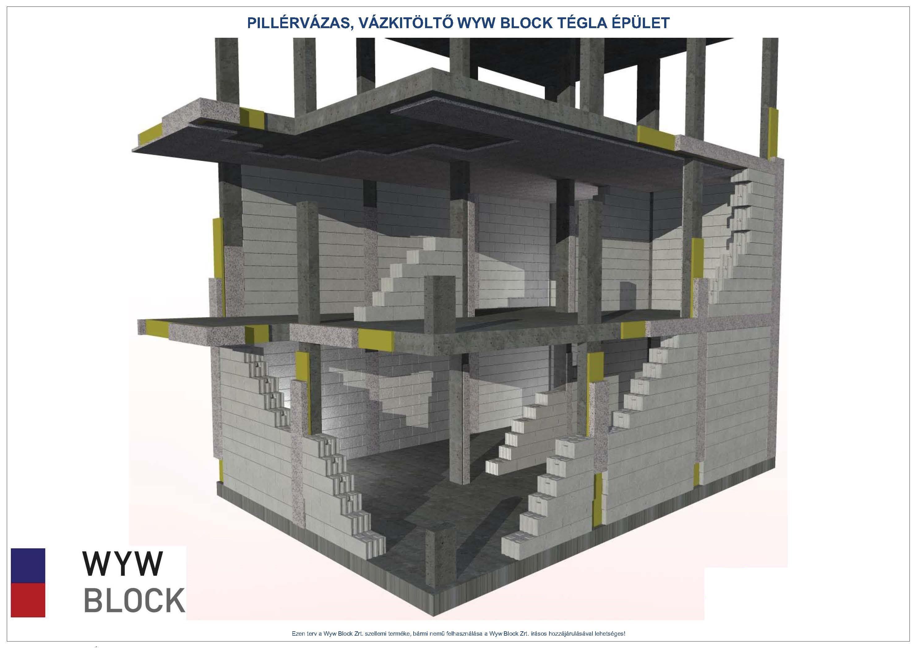 Pillérvázas épület előnyei